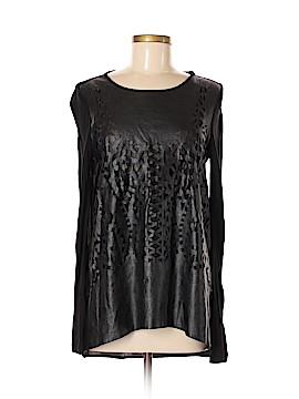 Zara Basic Faux Leather Top Size M