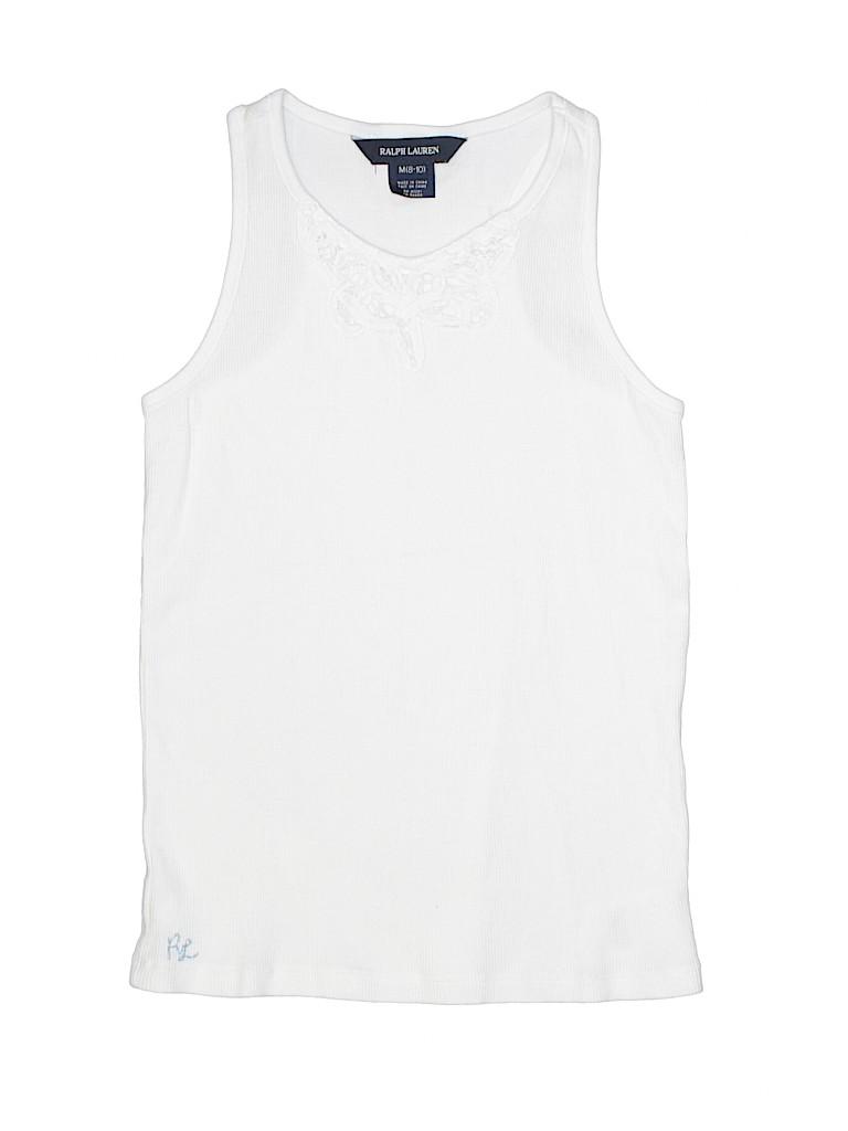 3d9e3dbbf93a8e Ralph Lauren 100% Cotton Lace White Tank Top Size 8 - 10 - 83% off ...