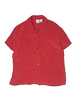 Emma James Short Sleeve Silk Top Size 16