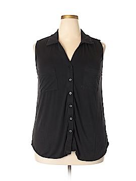 Fenn Wright Manson Sleeveless Button-Down Shirt Size 2X (Plus)