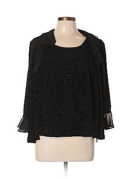 R&M Richards 3/4 Sleeve Blouse Size L