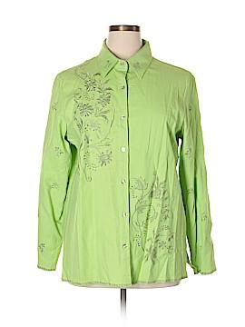 Denim & Co Long Sleeve Button-Down Shirt Size XL