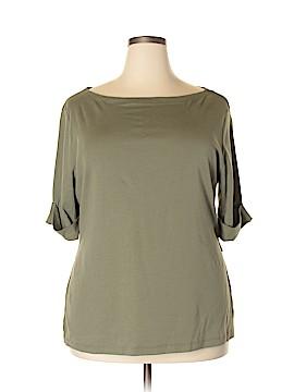 Karen Scott Short Sleeve T-Shirt Size 1X (Plus)