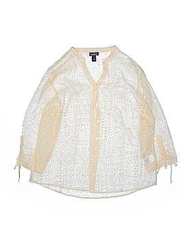 Erika 3/4 Sleeve Button-Down Shirt Size L