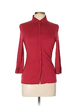 Zara 3/4 Sleeve Button-Down Shirt Size L