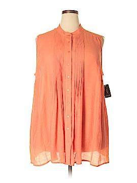 Alfani Sleeveless Button-Down Shirt Size 22 (Plus)