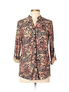 Erin London Long Sleeve Button-Down Shirt Size S