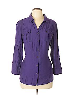 Roz & Ali Long Sleeve Button-Down Shirt Size XL