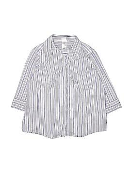 JMS Collection 3/4 Sleeve Button-Down Shirt Size 2X (Plus)