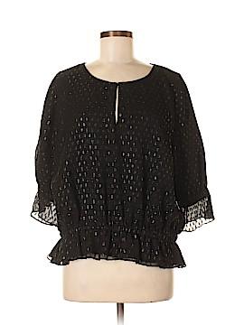 Halston 3/4 Sleeve Silk Top Size 12