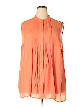 Alfani Sleeveless Button-Down Shirt Size 18 (Plus)