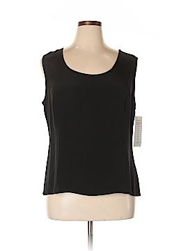 Nina Mclemore Sleeveless Silk Top Size 18 (Plus)