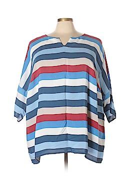 Ulla Popken Short Sleeve Blouse Size 28/30 (Plus)