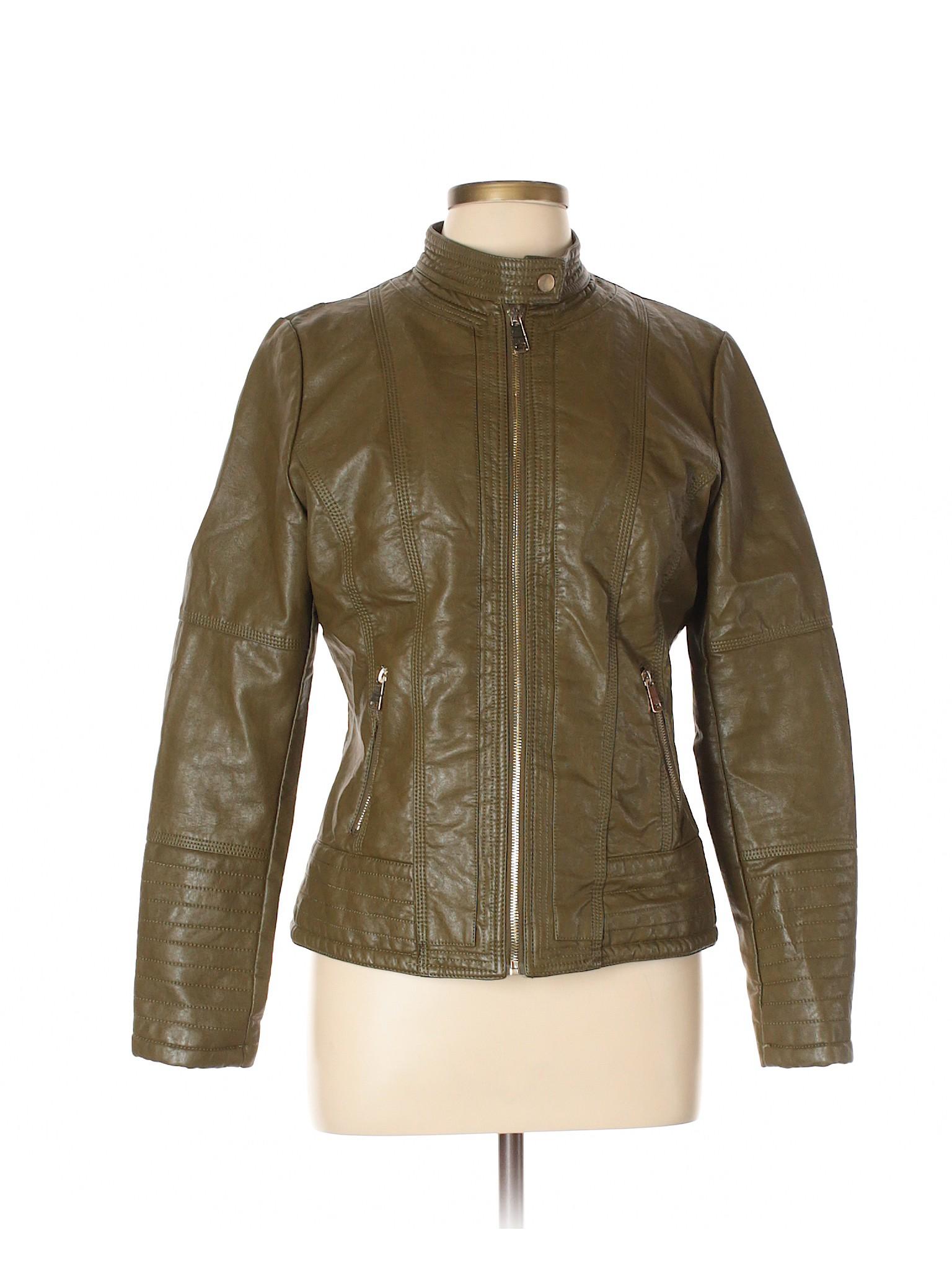 Leather Faux Coalition winter Jacket Leisure fWtSZq