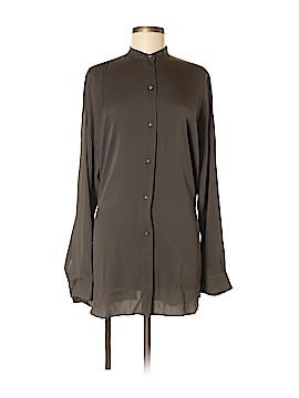 Helmut Lang Long Sleeve Silk Top Size M