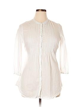 Aeropostale 3/4 Sleeve Button-Down Shirt Size L