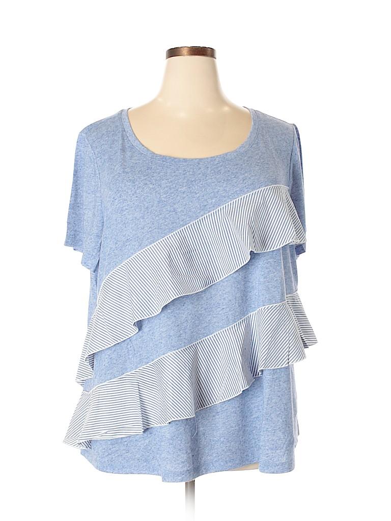 Lane Bryant Women Short Sleeve Top Size 26/28 (Plus)