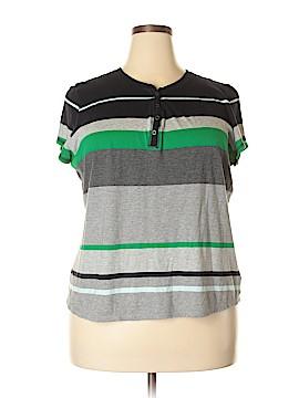 Liz Claiborne Short Sleeve Henley Size 2X (Plus)