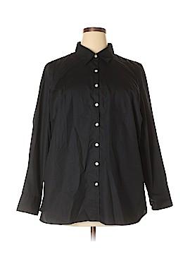 Lands' End Long Sleeve Button-Down Shirt Size 22W (Plus)
