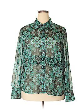 Style&Co Long Sleeve Blouse Size 20 (Plus)