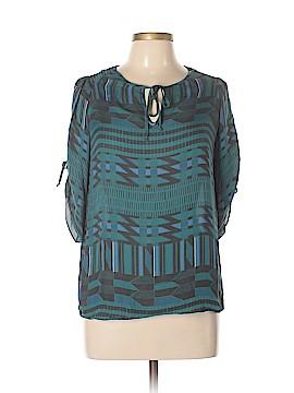 Parker 3/4 Sleeve Silk Top Size M