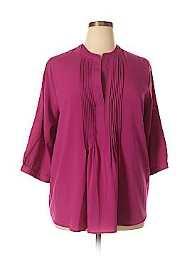 Roaman's 3/4 Sleeve Blouse Size 14 (M)