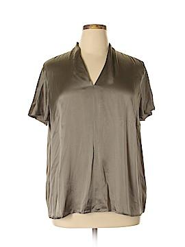 Marina Rinaldi Short Sleeve Silk Top Size 16 (25)