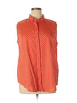 Liz Claiborne Sleeveless Button-Down Shirt Size XL