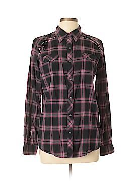 Rock 47 Long Sleeve Button-Down Shirt Size L