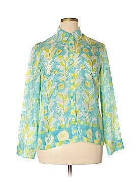Sigrid Olsen Long Sleeve Silk Top Size L