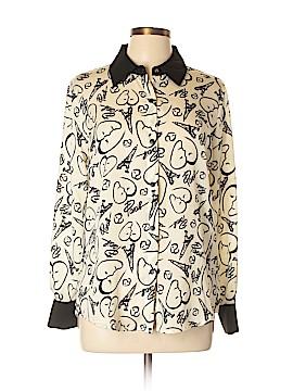 Catherine Malandrino Long Sleeve Button-Down Shirt Size M