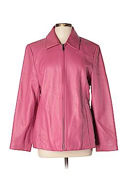 Liz Claiborne Leather Jacket Size L