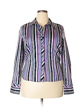 Geoffrey Beene Long Sleeve Button-Down Shirt Size 16