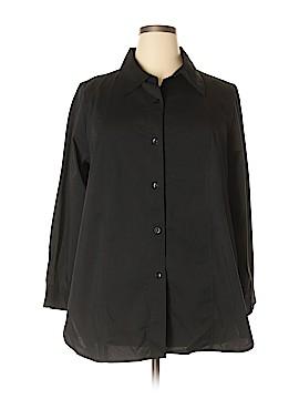 Simonton Says Long Sleeve Button-Down Shirt Size 1X (Plus)