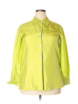 Bloomingdale's Long Sleeve Silk Top Size 14P