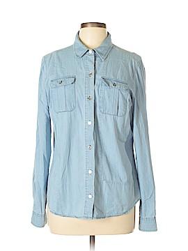 New Balance Long Sleeve Button-Down Shirt Size L