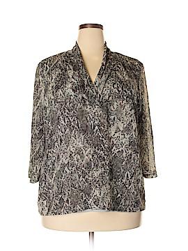 Dana Buchman 3/4 Sleeve Blouse Size 3X (Plus)