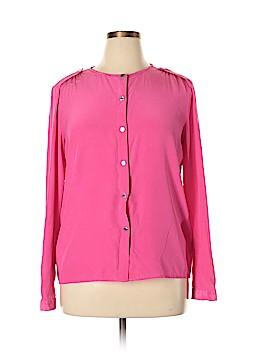 MICHAEL Michael Kors Long Sleeve Silk Top Size L