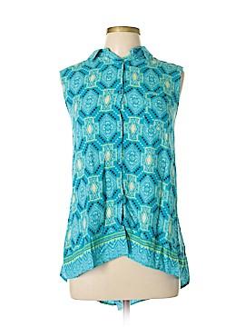 New Directions Sleeveless Button-Down Shirt Size XL