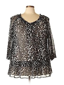 Philosophy Republic Clothing Long Sleeve Blouse Size 2X (Plus)