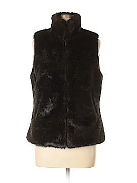 Simply Vera Vera Wang Faux Fur Vest Size M
