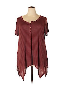 SONOMA life + style Short Sleeve Henley Size 1X (Plus)