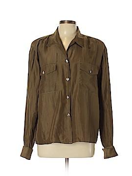 Carole Little Long Sleeve Silk Top Size 10