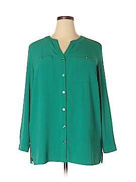 Susan Graver Long Sleeve Blouse Size 18W (Plus)