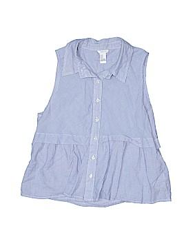 I Love H81 Sleeveless Button-Down Shirt Size M