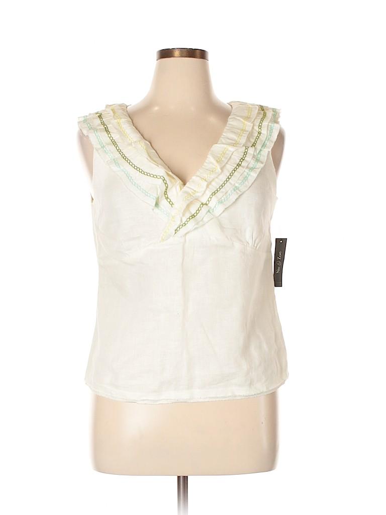 Nic + Zoe Women Short Sleeve Blouse Size 14