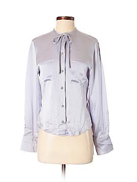 Max Mara Long Sleeve Silk Top Size 4