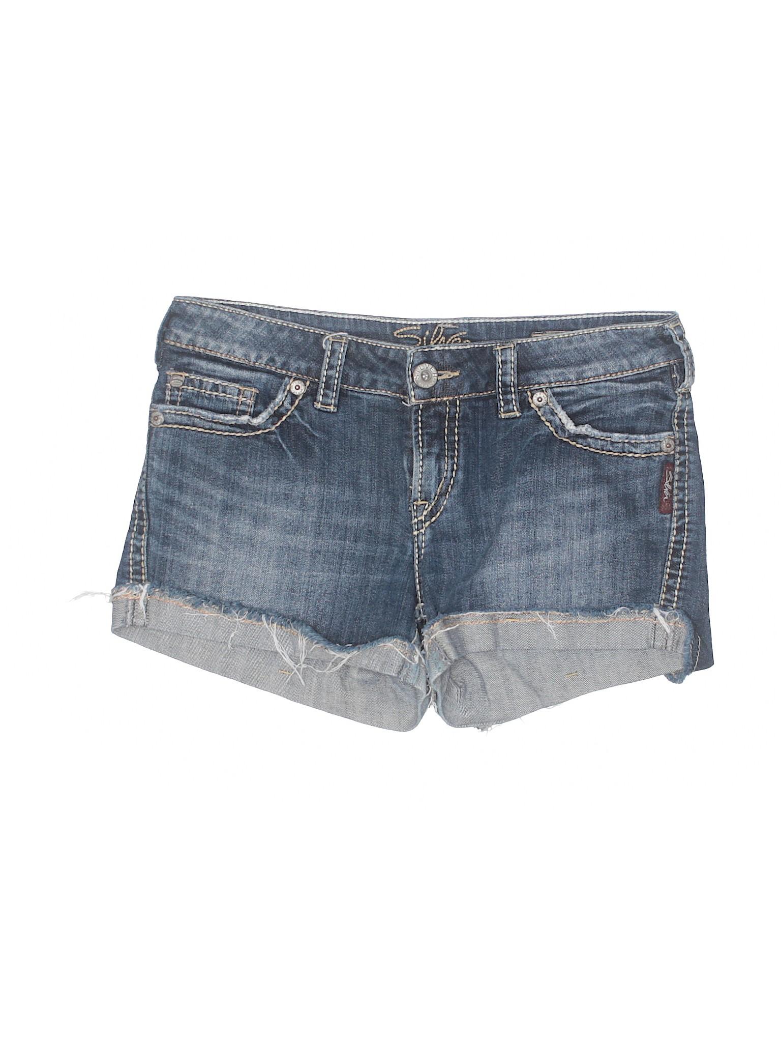 Silver Denim Shorts Boutique GfXcicNA8R Jeans AwadPnq67