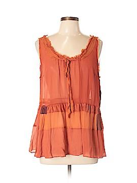 Floreat Sleeveless Silk Top Size L