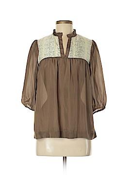 Jenny Han 3/4 Sleeve Silk Top Size M